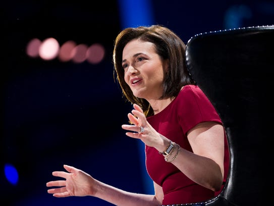 Sheryl Sandberg, chief operating officer of Facebook Inc., speaks during the DreamForce Conference in San Francisco, California, U.S., on Wednesday, Nov. 20, 2013. Salesforce.com Inc. introduced an overhauled version of its mobile software, seeking to ensure clients and partners will be able to use more features of the company's sales, marketing and customer service software. Photographer: David Paul Morris/Bloomberg *** Local Caption *** Sheryl Sandberg ORG XMIT: 450860597