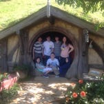 "James and his family visiting set of ""Lord of the Rings"""