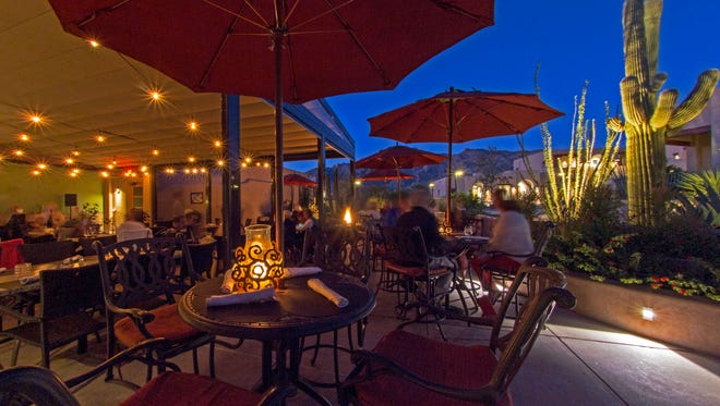 For a breahtaking dinner in the desert, head to Hacienda del Sol's Terraza Garden Patio & Lounge, which offers live music every night.