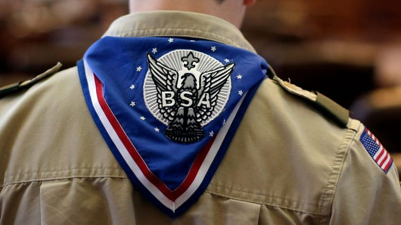 "Starting Feb. 2019, the Boy Scouts of America's older youth program called Boy Scouts will have a new name, ""Scouts BSA."" Credit: Eric Gay/Associated Press"