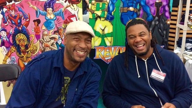 Jabaar L. Brown, left, and Donald Lambert III at the Baltimore Comic Con.