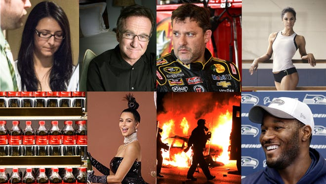 The most-read stories of 2014 include Emma Czornobaj, Robin Williams, Tony Stewart, Misty Copeland, Coca-Cola, Kim Kardashian, Ferguson, Mo., and Derrick Coleman.
