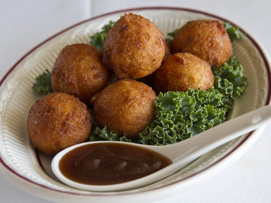 Sweet potato hush puppies are served at Simply Southern in Belmar.