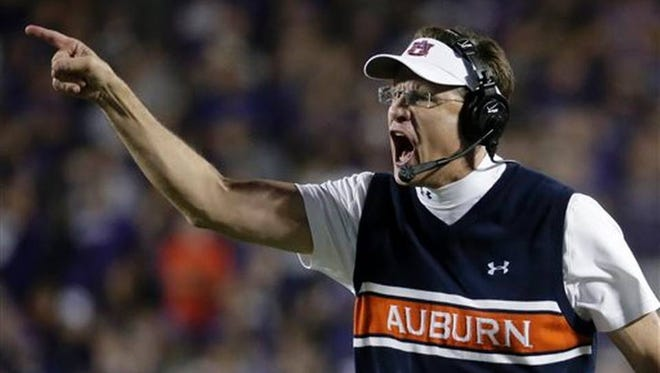 Auburn coach Gus Malzahn has a tough road to go to get the fourth-ranked Tigers into the College Football Playoff.