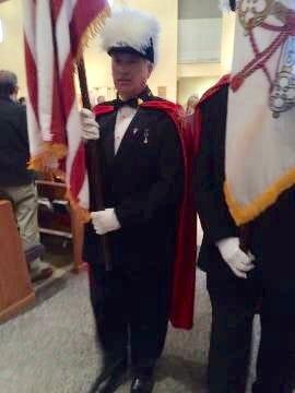 John Macioce at a Knights of Columbus service