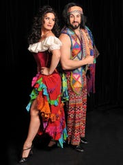 """Cassandra Marie Murphy and Justin Michael Wilcox star in the 5-Star Theatricals production of """"The Hunchback of Notre Dame,"""" on stage at the Thousand Oaks Civic Arts Plaza through April 29."""