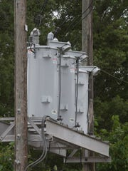 Gulf Power Company transmission equipment is pictured in the Warrington area.