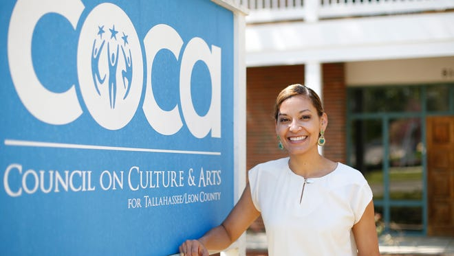 Audra Pittman stands in front her office. Pittman is the Executive Director at Tallahassee's Council on Culture and Arts known as COCA which recently received a Knight Foundation grant.