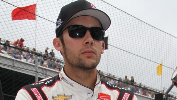 Bryan Clauson, in the pit area, prior to qualifications at the Indianapolis Motor Speedway, Saturday, May 16, 2015.