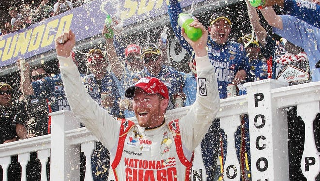 Dale Earnhardt Jr. has won twice this season: at the season-opening Daytona 500 and above at the Pocono 400 on June 8.