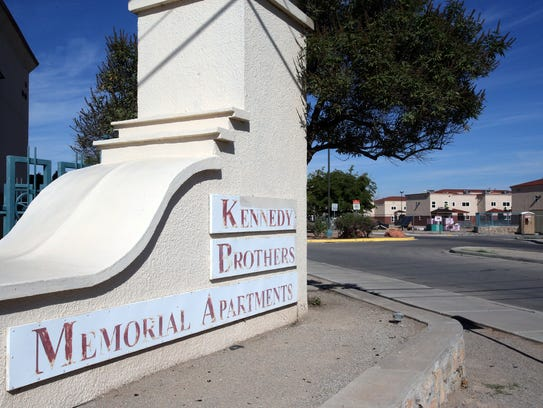 The Kennedy Brothers Memorial Apartments along the