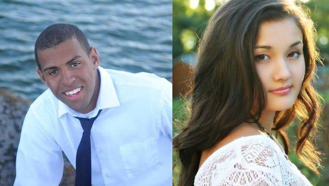 Notre Dame Academy's  Derek Campbell and Melaina Rapisarda.