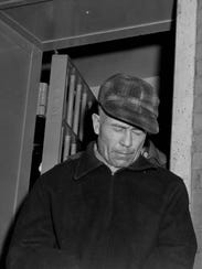 Ed Gein, a farmer who was held for questioning in connection