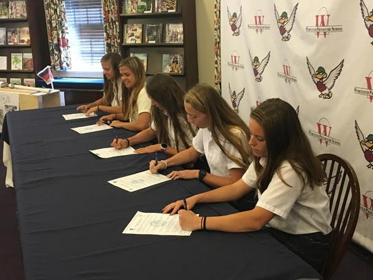 Worcester Prep seniors signing to continue their athletic