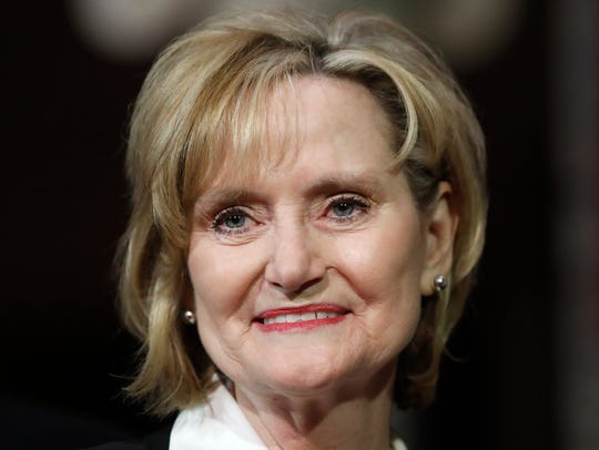 Mississippi Republican Cindy Hyde-Smith smiles during