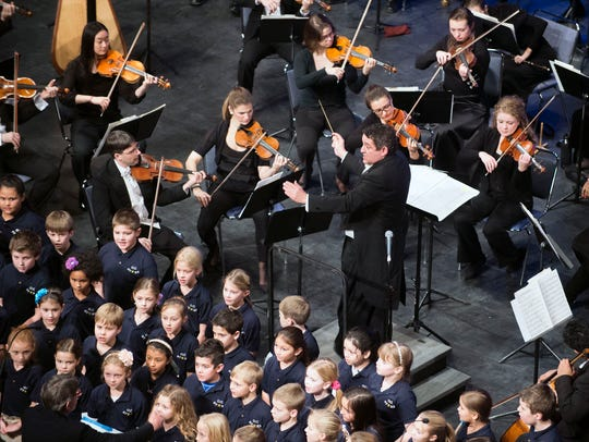 The OC Stars sing alongside the Mid-Atlantic Symphony