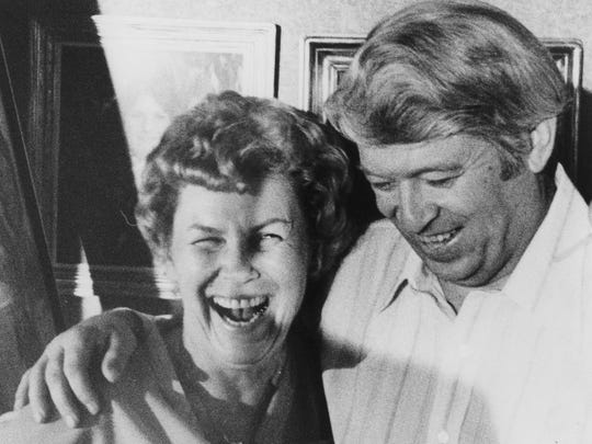 Max Dunlap and his wife, Barbara, in 1980 after his