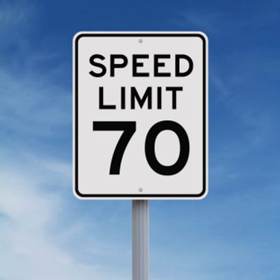 The speed limit on stretches of I-41 in Wisconsin will