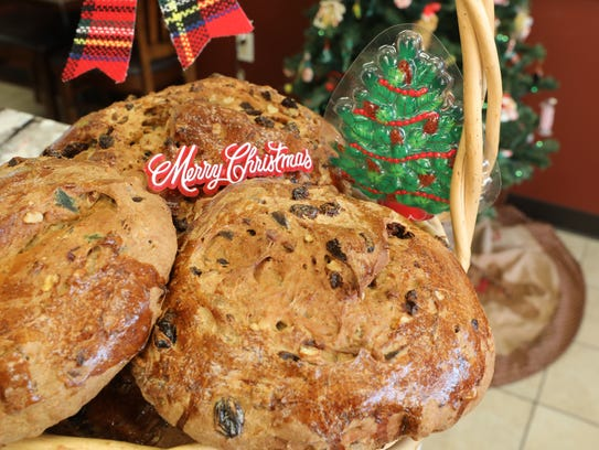 """""""Pan de Pascua"""" breads are pictured at Los Hornitos"""