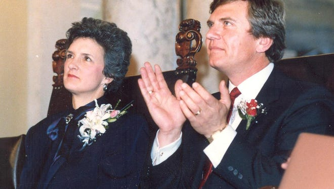 George Mickelson and his wife, Linda, managed to balance raising three children with the demands of political life.