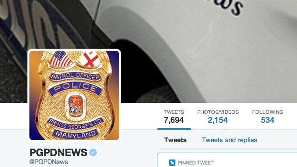 Prince George's County Police will post about the sting on its Twitter page.