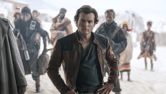 "Alden Ehrenreich plays the title role in ""Solo: A Star Wars Story."""