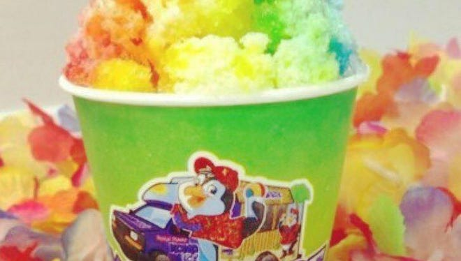 A Kona Ice food truck will give out free shaved ice on Tax Day from the parking lot of Incredible Pizza.