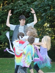 """Actors rehearse for Keizer Homegrown Theatre's """"A Midsummer Night's Dream"""" that runs July 22-25 at Keizer Rotary Amphitheater."""
