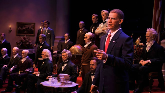 Pride in America pours from The Hall of Presidents: A Celebration of Liberty's Leaders, an iconic Magic Kingdom attraction anchored by audio-animatronics likenesses of all the U.S. presidents.