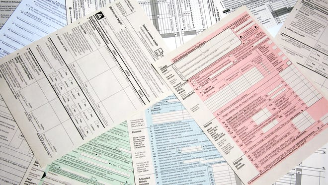 Array of forms from the IRS.