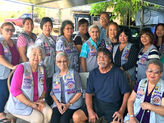 "Members of the Guam Sunshine Lions Club visited Maria Mesa, 56, (not shown) at her residence in Dededo, on March 10, as part of their efforts to fulfill the club's community service mission of ""Caring for the Sick and the Elderly.  Members presented a monetary donation to be used for supplies and other necessities. Seated from left: Lions Lola Flores and Jovie Mejorada; Alfred Mesa, who received donation on behalf of his spouse; and Lion Loling Blaz.  Standing from left: Lions Jill Pangelinan, Tish Tano, Marietta Camacho, Dot Leon Guerrero, Dee Cruz, Helen Mendiola, Pete Blaz, Julie Cruz, Connie Rivera, Mary Taitano, Julie Garcia, Helen Colby, Bobbie Flores, and Pete Babauta."