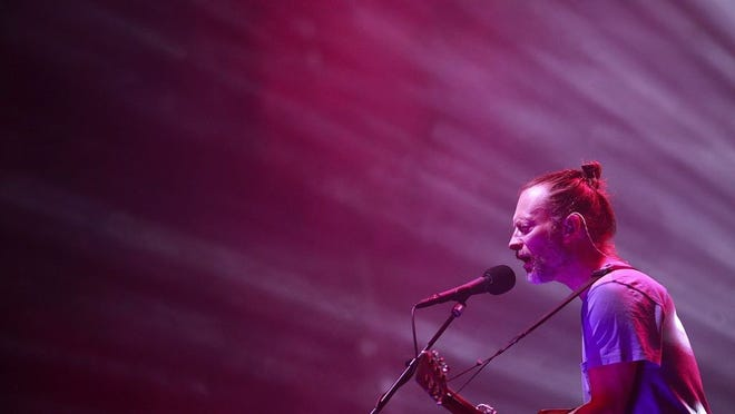 Thom Yorke performs with Radiohead in July 2018 at the Schottenstein Center.