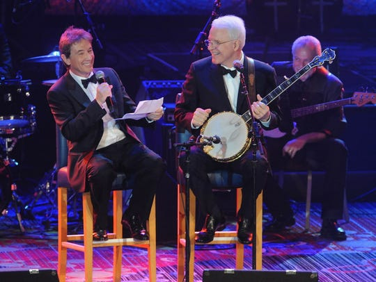 Martin Short (left) and Steve Martin perform at a charity