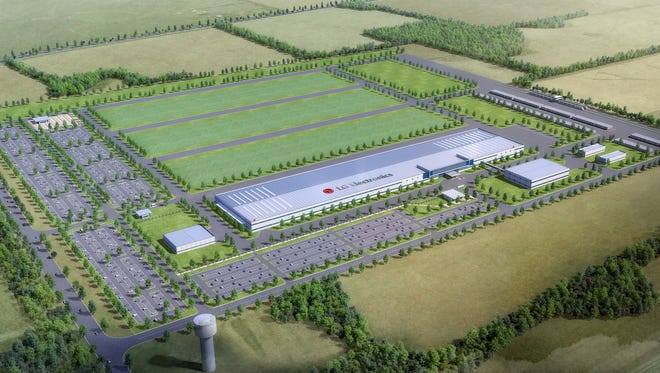 Artist's rendering of the phase 1 layout for LG Electronics in Clarksville