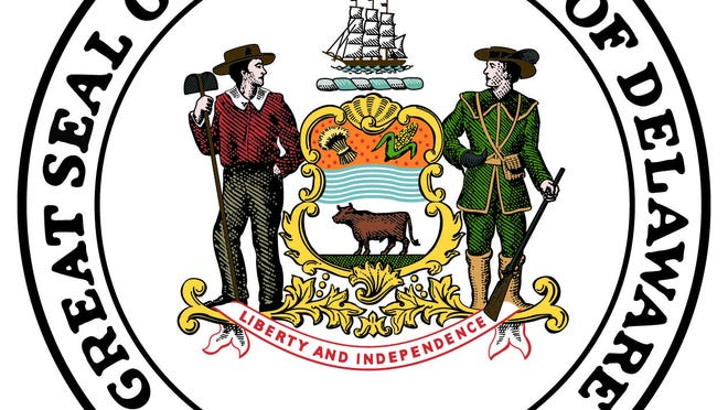 The Delaware seal.