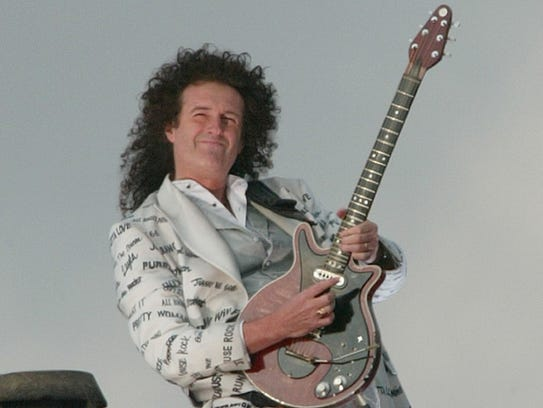 'Queen' guitarist Brian May plays the British national