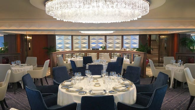 The Compass Rose restaurant on Regent's Seven Seas Navigator was completely revamped in a recent makeover.