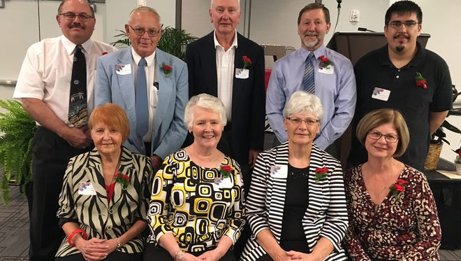 Agnesian HealthCare recently recognized its dedicated volunteers, including its advisory board members (left to right, back row): Edward Gurno, Richard Jaeger, Ken Becker, Gary Ring, Alex Rodriguez, (left to right, sitting) Sandra Wroblewski, Cathy Seffern, Sandy Binotto and Debbie Booher.