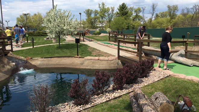 Located behind Cedar Creek Mall in Rothschild, Sawmill Mini Golf is near the indoor water park at the Grand Lodge and next to Phantom Laser Tag.