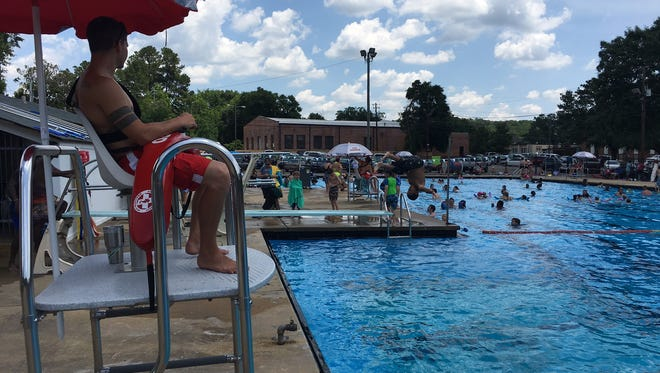Pratt Pool was a cool spot Monday as the city celebrated Retro Pool Day.