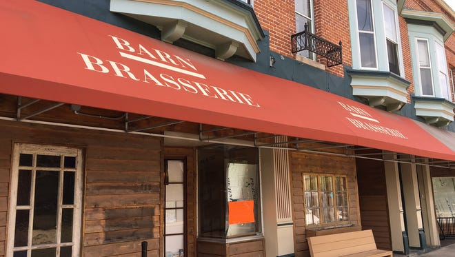 The front of the former Barn Brasserie on Thursday, June 2. The restaurant will open under a new owner and a new name, Limbird Brothers.