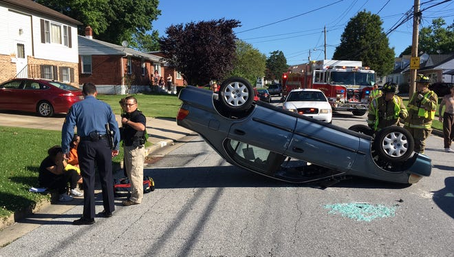 A crash Thursday morning in Elsmere closed Tamarack Ave. in Elsmere.  One person sustained minor injuries,