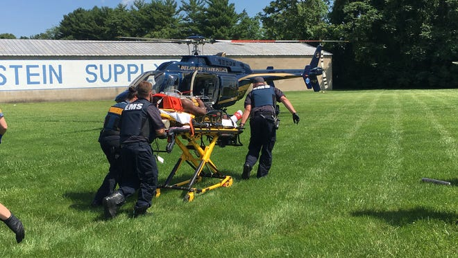 A man was airlifted from a shooting scene in Wilmington.