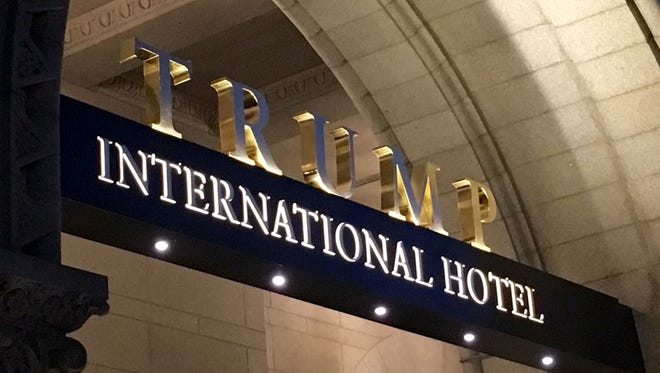 The new Trump International Washington D.C. hotel is located in the historic Old Post Office Pavilion.