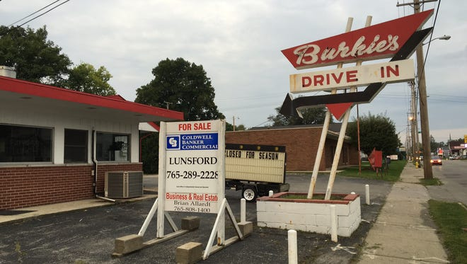 Burkie's Drive-In, a landmark Muncie business for more than a half century, has closed early for the season and is for sale.