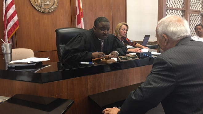 Circuit Judge Bill Lewis Jr. on the bench Wednesday in Prattville.