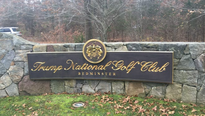 The front entrance of Trump National Golf Club in Bedminster.