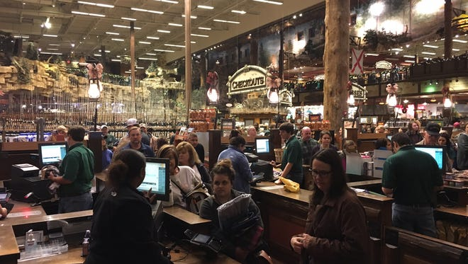 It took less than four minutes for more than 700 customers to come through the doors at Prattville's Bass Pro Shops location on Black Friday morning.