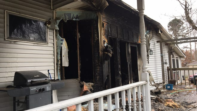 Damage was extensive to the house at 1404 N. Granville Ave., where one person died in a fire Wednesday night.