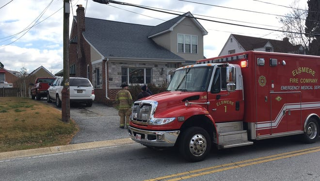 Two people have been removed from a home and reportedly showed signs of carbon monoxide poisoning.